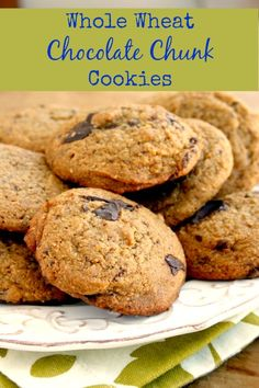Whole Wheat Chocolate Chunk Cookies & How to Fix School Lunchbox ...