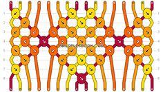 Friendship bracelet Pattern 17113 -  16 strings, 4 colours