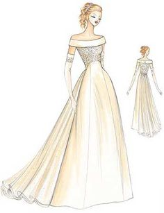 Winter Country Wedding Dresses marfy dress pattern 622 Beautiful and old fashioned. Wedding Dress Sketches, Wedding Dress Patterns, Vintage Dress Patterns, Homemade Wedding Dresses, Black Wedding Dresses, Bridal Dresses, Ball Dresses, Ball Gowns, Boat Neck Wedding Dress