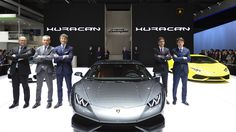 Unveiling Of The Lamborghini Huracan LP 610-4 Coupé 2014 at Shanghai. More Images On The Following Link: https://www.carspecwall.com/lamborghini/huracan/huracan-lp-610-4-coupe-2014/
