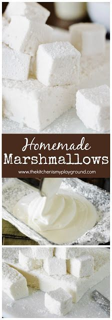 FAVORITE Homemade Marshmallows How to Make Homemade Marshmallows ~ they're TOTALLY worth the homemade time & effort! How to Make Homemade Marshmallows ~ they're TOTALLY worth the homemade time & effort! Recipes With Marshmallows, Homemade Marshmallows, Homemade Candies, How To Make Marshmallows, Candy Recipes, Baking Recipes, Dessert Recipes, Fudge Recipes, Just Desserts