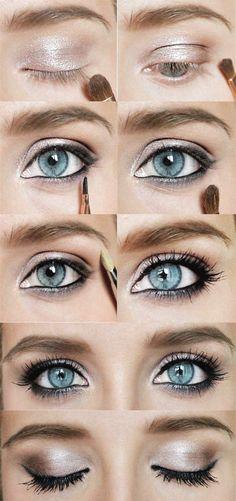 Makeup Organizer Sephora plus Makeup Mirror Sale also Makeup Vanity Girl by Make. Eyeshadow For Blue Eyes, Smokey Eyes, Best Eyeshadow, Blue Eye Makeup, Eyeshadow Looks, Makeup Eyeshadow, Eyeshadow Palette, Blue Eyes Pop, Gray Eyes