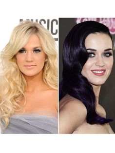Famous Females Singers And Songwriters Carrie Underwood And Katy Perry with Liner at the Waterline.