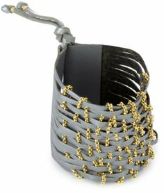 Accessories & Beyond Silver Leather Cuff With Railroad Gold-Tone Chain by Accessories & Beyond, http://www.amazon.com/dp/B004V2S72G/ref=cm_sw_r_pi_dp_DeqJpb0WVCDB5