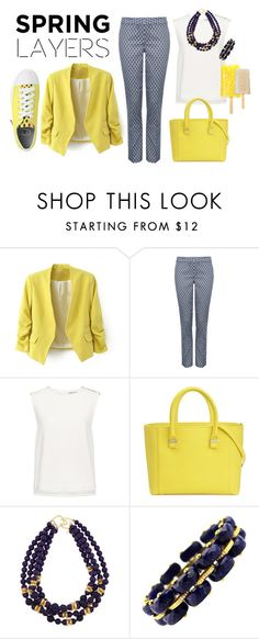 """Spring is here"" by ludolove on Polyvore featuring NYDJ, Finders Keepers, Converse, Victoria Beckham, Kenneth Jay Lane, Spring, yellow and fresh"