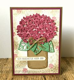 Caring for Stamps: Vintage Vrijdag #60: Stampin' Up! ~ Thoughtful Branches and Jar of Love and Everyday Jar Framelits