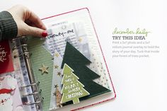 Ali Edwards Design Inc. Daily Journal, Junk Journal, Ali Edwards, Cute Planner, Candy Cards, Christmas Scrapbook, Mini Scrapbook Albums, December Daily, Cute Crafts