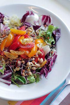 so so many easy peasy tasty salads here.