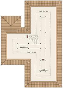 Jeremiasz 2 PS - Rzut poddasza Floor Plans, Diagram, Floor Plan Drawing, House Floor Plans