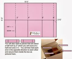 Pop up box card step by step dimensions lots of pics and simplified card in a box templatetutorial perky penny papers pronofoot35fo Choice Image