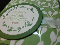 """Hochzeit - """"Ein Hoch"""" - edle Hochzeitskarte in g... - ein Designerstück von kreativesherzerl bei DaWanda"""