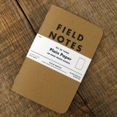 Field Notes 3-pack Plain Paper €11.14 Field Notes, Cards Against Humanity, Books, Vintage, Livros, Book, Vintage Comics, Libri, Libros