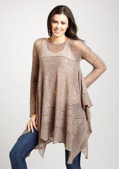 Asymmetrical Draped Sweater Tunic