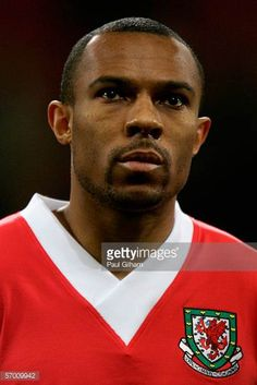 Danny Gabbidon of Wales during the national anthem prior to the International Friendly match between Wales and Paraguay at the Millennium Stadium on...