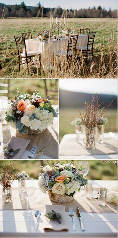 burlap table runner with vintage details by Flora Nova & VOWS Wedding & Event Planning