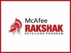 McAfee Rakshak Retailers Program logo Design