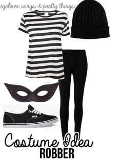 Easy College Halloween Costumes - Robber // eyelinerwingsandprettythings