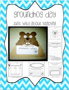 Just Wild About Teaching: Adorable Groundhog Day Craft! Enjoy this adorable packet for your kiddies; stuffed with printables. Free until tonight!  justwildaboutteaching.blogspot.com