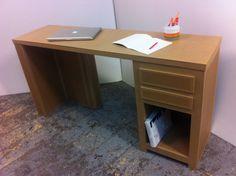 meuble en carton, bureau en carton
