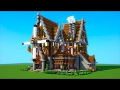 Minecraft Tutorial: How To Build A BIG Survival House ( Medieval Mansion ) 2018 - Minecraft Servers Web - MSW - Channel Big Minecraft Houses, Minecraft Medieval House, Minecraft Villa, Minecraft Mansion, Minecraft House Tutorials, Minecraft Houses Survival, Minecraft Plans, Minecraft Houses Blueprints, Minecraft House Designs