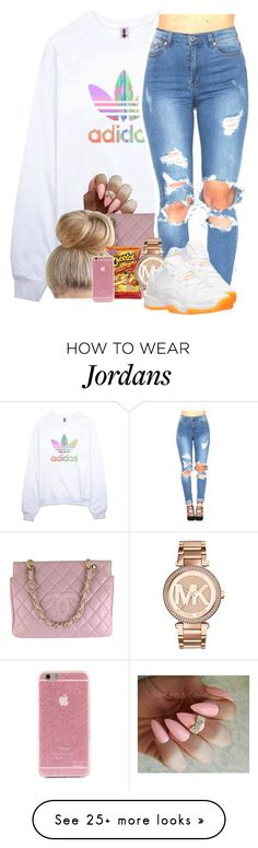 """Untitled #305"" by talia-sills on Polyvore featuring adidas, Chanel, MICHAEL Michael Kors and Retrò"