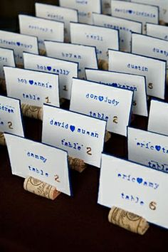 Escort Cards - except mine will be gamer-related instead of wine-related