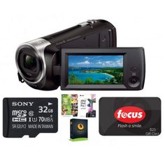 Sony HDR-CX405 1080p Handycam Camcorder Bundle w/ $25 Focus Camera GC 32GB Sony Card & More $128 with free ship... http://www.lavahotdeals.com/us/cheap/sony-hdr-cx405-1080p-handycam-camcorder-bundle-25/43436