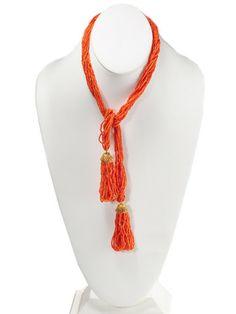Georgian Coral Tassel Sautoir Necklace