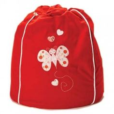 Cocoon Couture - Butterfly Bean Bag Red