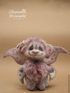 Купить Мотылек Мотя - бледно-сиреневый, мотылек, бабочка, авторская ручная работа, авторская игрушка