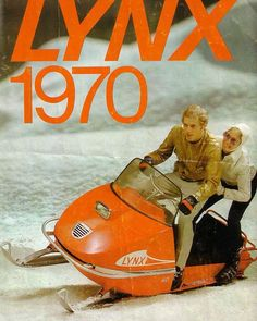 '70 vuosimallin Lynx! #Retroperjantai #lynx #snowmobile