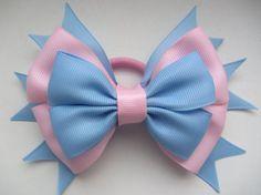 pink blue bow,elastic band,elastic bow,Hair Bow,hair bow,Hair Accessories,bow