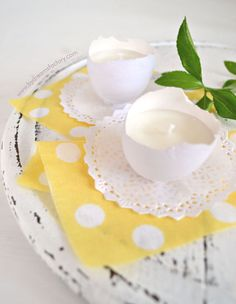 Scented Eggshell Candles, Perfect for Easter or Spring