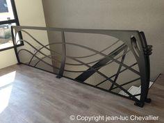 Création jean-luc Chevallier pour lastylique.com Staircase Contemporary, Contemporary Furniture, Escalier Design, Stair Railing, Railings, House Stairs, Art Nouveau, Design Art, Cabinet