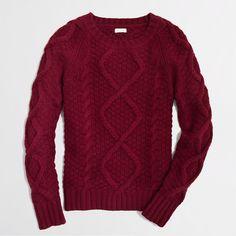 Factory cable knit sweater - crewnecks & boatnecks - FactoryWomen's Sweaters - J.Crew Factory