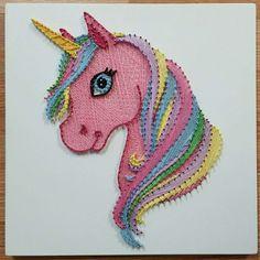 unicorn string art strung