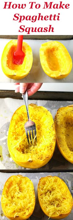 How To Make Spaghetti Squash ~ This is easy peasy and is the perfect replacement for regular pasta!