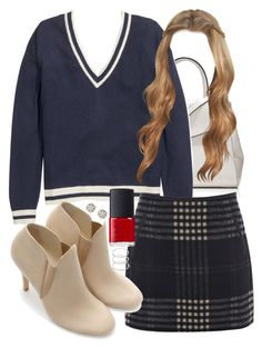"""""""Lydia Inspired Outfit with Requested Sweater"""" by veterization ❤ liked on Polyvore featuring The Limited, H&M, Oasis, Zara, Amber Sceats, NARS Cosmetics and Forever 21"""