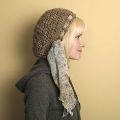 "Free pattern for ""Flopsy Hat with Scarf""...cute!"