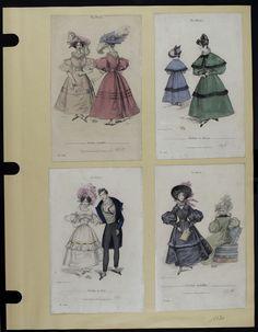 Mode. [XIXe siècle]. 1830 Robe, manche gigot, col pèlerine