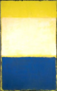 No. 6 (Yellow, White, Blue Over Yellow on Gray), 1954 by Mark Rothko. Color Field Painting. abstract