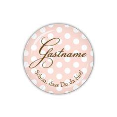 Button 38mm ♥ Gastname rosa (04-01EG) von lijelove auf DaWanda.com