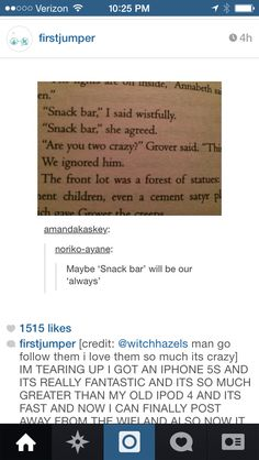 OMG PERCY JACKSON AND THE LIGHTNING THIEF THATS IT SNACK BAR IS PERCY AND ANNABETH'S ALWAYS