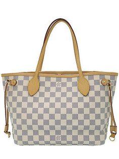 0379702cd6ddbc Used[A] LOUISVUITTON Bag/Purse Damier Azur Neverfull PM N51110 tote bag Azul
