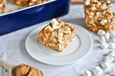 No-Bake Peanut Butter Squares: Just 4 ingredients.
