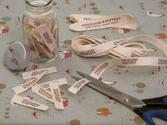 PatchworkPottery: Fabric Labels Tutorial I've been looking for a tutorial like this! So easy and now I can add my own custom labels to the things I make.