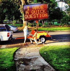 Prom proposal via traffic sign