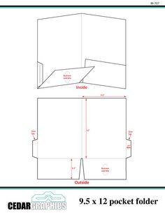 "Pocket Folder - 9.5"" x 12"" Template Download | Adobe InDesign and ...                                                                                                                                                      More"