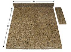 BuildDirect: Granite Countertops Modular Granite Countertops   Desert Brown   End Set