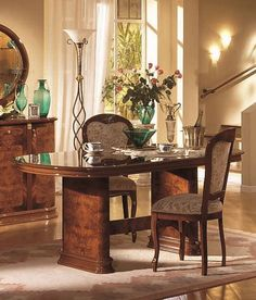 stylish design furniture flora walnut dining table with 6 tibet chairs 2 092 50